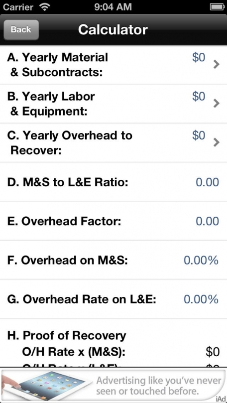 Construction Dual Rate Overhead Allocation Calculator