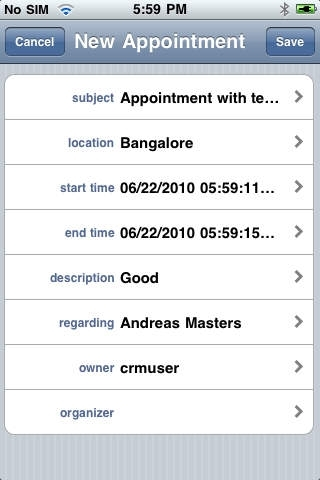 Contact & Activity Manager for MS CRM Online (iPhone)