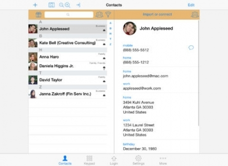 ContactsPro for iPad (and iPhone)
