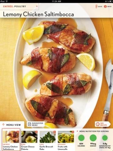 Cooking Light Recipes: Quick and Healthy Menu Maker