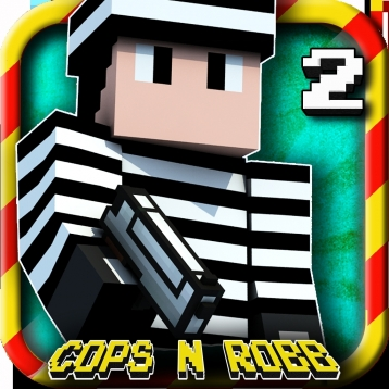 Cops N Robbers™ 2 (Original) - Mini Block Survival Game & Worldwide Fight Multiplayer with skins exporter for Minecraft (PC Edition)