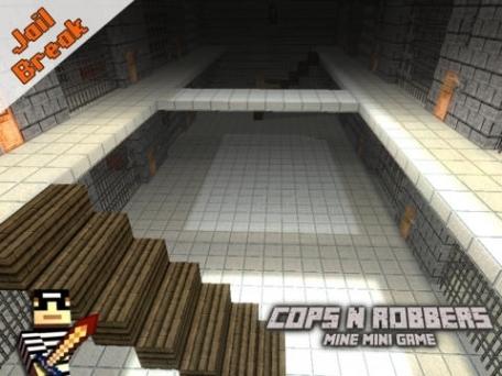 Cops N Robbers (Jail Break) - Mine Mini Game With Survival Multiplayer