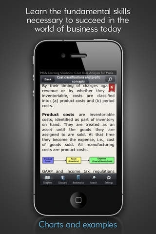 Cost Data Analysis - MBA Learning Solutions for iPhone