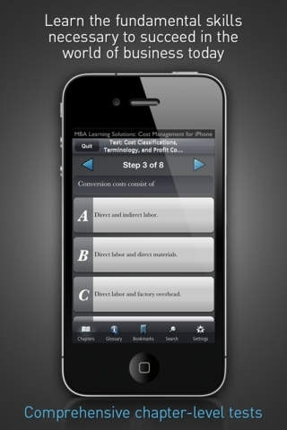 Cost Management - MBA Learning Solutions for iPhone