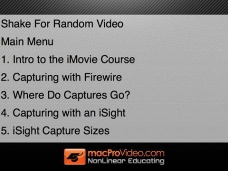 Course For iMovie '11 101 - Core iMovie '11
