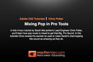 Course For Pro Tools 402 - Mixing Pop In Pro Tools