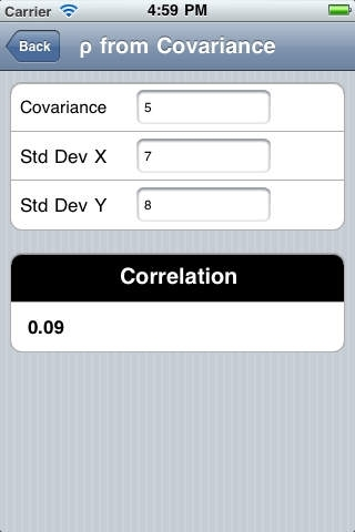 Covariance & Correlation