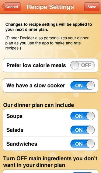 Cozi Dinner Decider