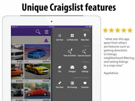 cPRO Craigslist client for iPhone and iPod, and for iPad