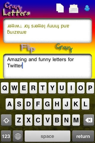 Crazy Letters - flip word for twitter
