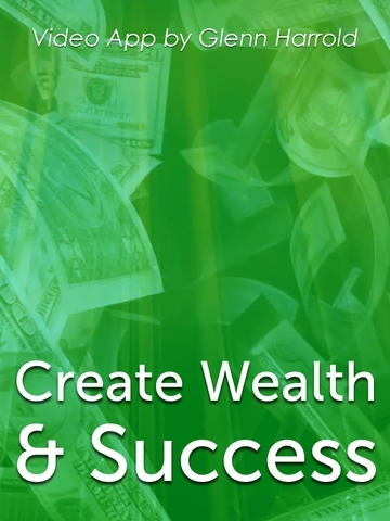 Create Wealth and Success Hypnosis Subliminal Affirmation VideoApp by Glenn Harrold-iPad Version