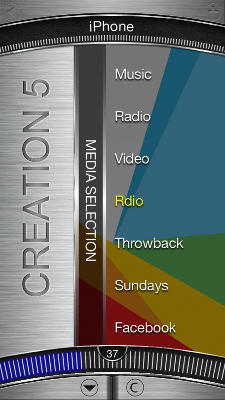 Creation 5 Media Player PRO - Music, Radio, YouTube Music Video - AirPlay & DLNA. Originally created for Bang & Olufsen - iPhone Version