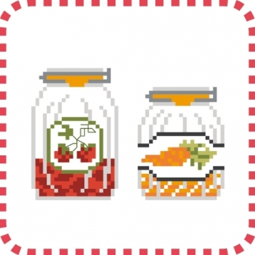 Cross stitch - Kitchen