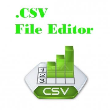 Csv Editor with .XML, .XLS, .XLSX Converter