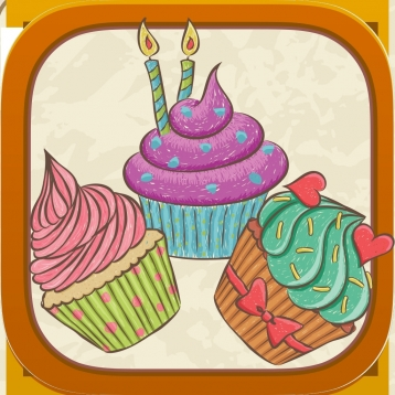 Cupcaker - Match Three Cupcakes - FREE Tap Puzzle Fun