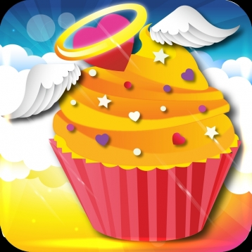 Cupcakes From Heaven - Catch Tasty Baked Heavenly Falling Cupcake