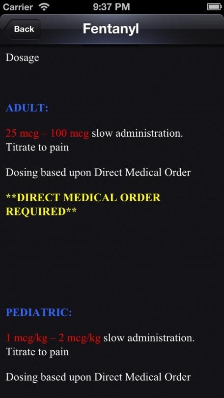 Custom Paramedic Formulary
