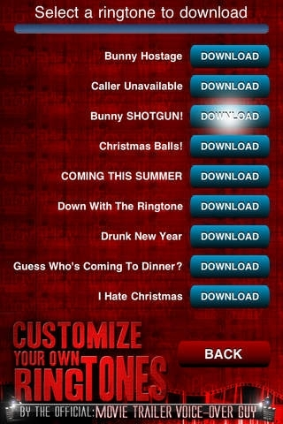 Custom Ringtones by the official: Movie Trailer Voice-Over Guy