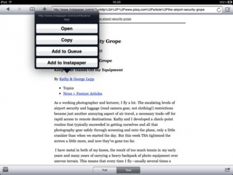 Cyberspace - Web browser optimized for reading and sharing