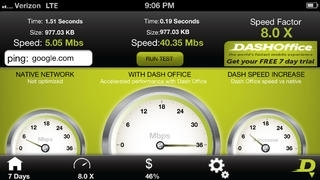 Dash Web - Accelerated Mobile Browser with Data Reduction for Verizon and ATT