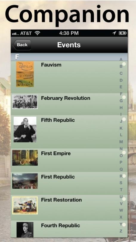 David Downie's Paris Timeline