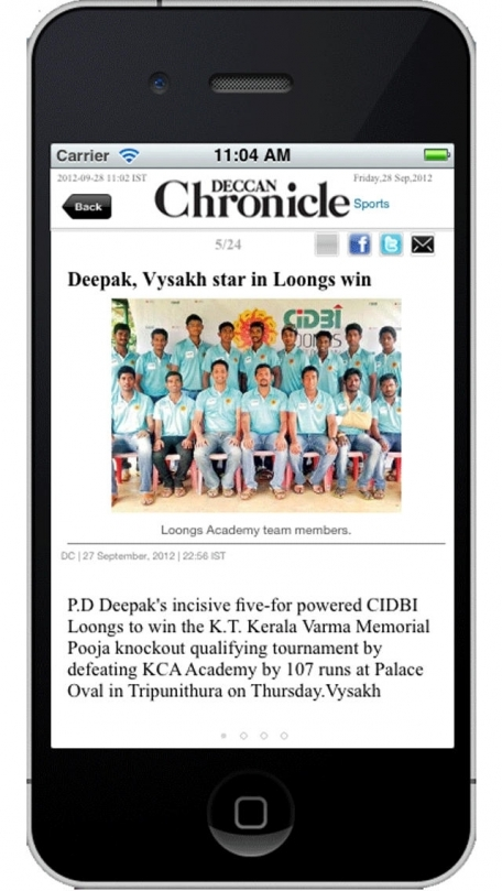 Deccan Chronicle for iPhone/iPod