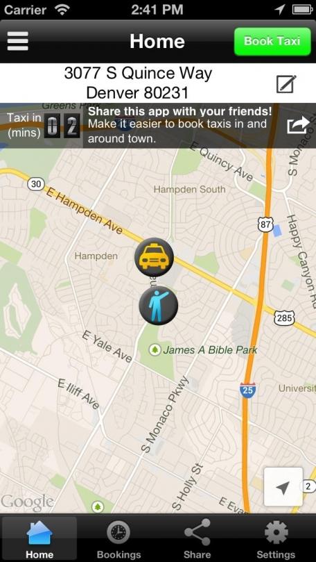 Denver Taxi App