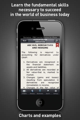 Derivatives - MBA Learning Solutions for iPhone