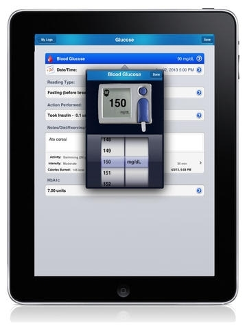 Diabetes Glucose Tracker App (iDiabetes™)