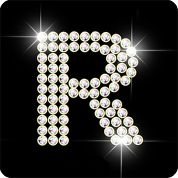 R Letter In Black Diamonds Diamond letter R Games...