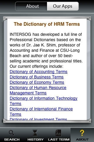 Dictionary of Human Resource Management Terms - All terms, definitions & glossary for human capital