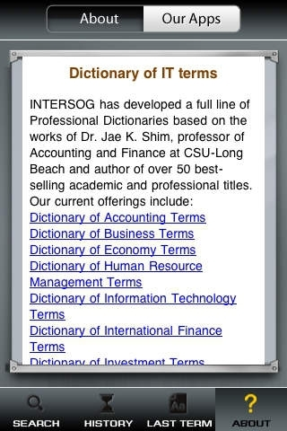 Dictionary of Information Technology Terms  - All definitions for learning communications industry