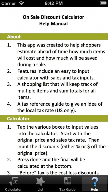 discount calculator pro with shopping list sales tax guide mobile