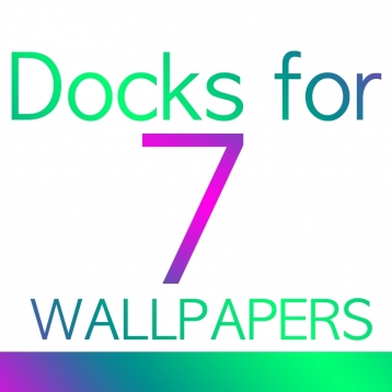 Docks for 7 Wallpapers - Dock and Status bar color wallpaper overlays
