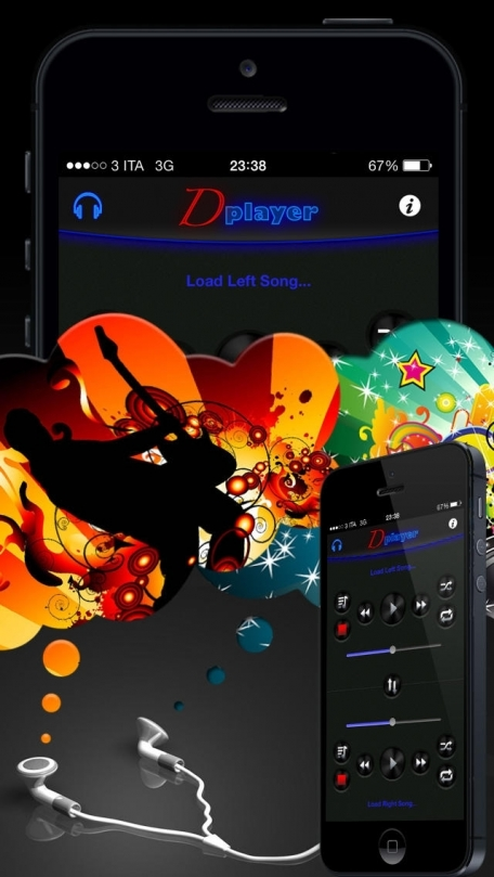 Double Player for Music with Headphones Pro(Listen 2 songs simultaneously with headphones)