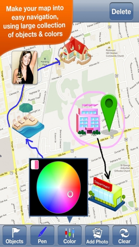 Draw on Map - Make iCONic Way