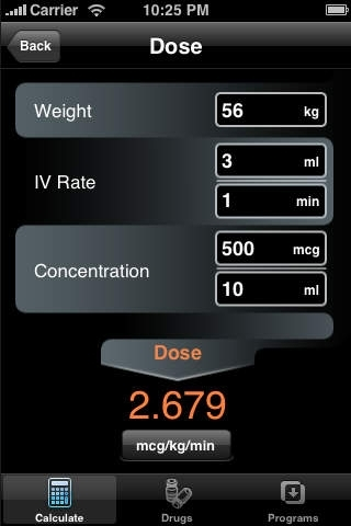 Drug Infusion - An IV Med Drip Rate Infusion Calculator