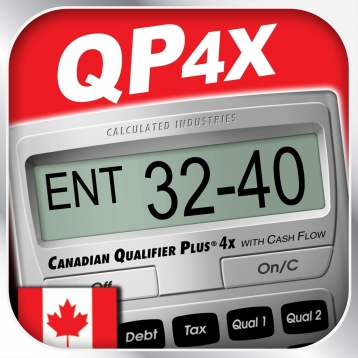 Canadian Qualifier Plus 4x -- Advanced Residential and Commercial Investment Real Estate Finance Calculator for Agents, Brokers, Investors, Loan Officers and other Canadian Housing and Mortgage Industry Professionals