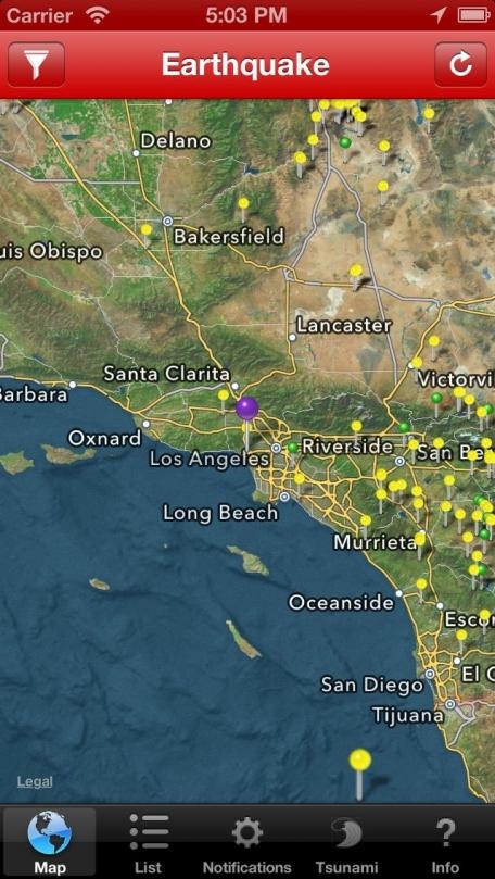 Earthquake Lite - International reporting, maps, & sharing of world earthquakes