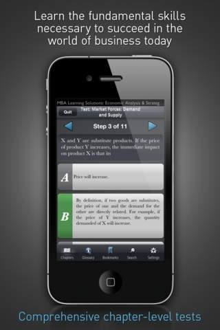 Economic Analysis & Strategy Decisions - MBA Learning Solutions for iPhone