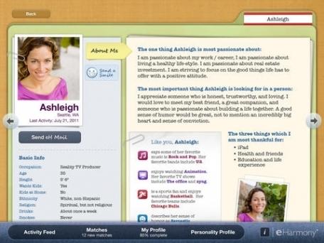 eHarmony for iPad