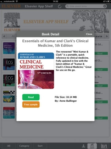 Elsevier App Shelf