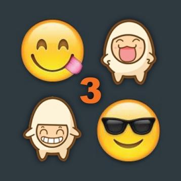 Emoji 3 Emoticons for WhatsApp, LINE, KakaoTalk, Kik, WeChat, MMS, Mail, Zoosk & Facebook Messenger - Free Emoji Keyboard with Pop Emojis Art & Animated icons