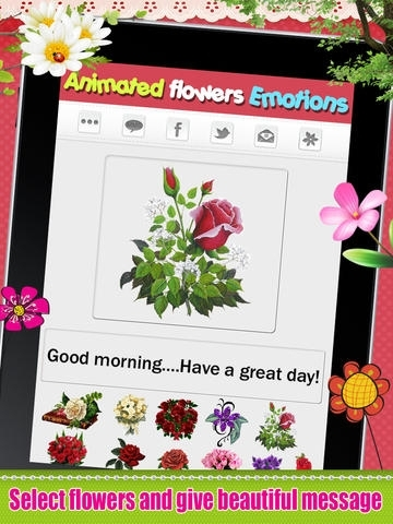 Emoji Flowers -  3D Animated Flower Emoticons