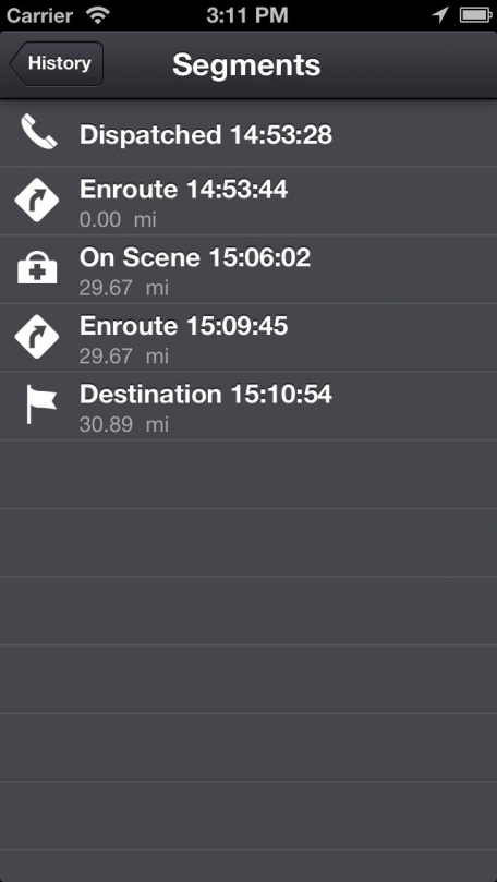 EMS Tracker - EMT, Fire and Ambulance GPS Log