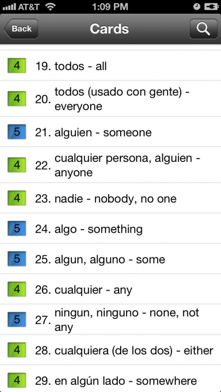 English Vocabulary for Spanish Speakers