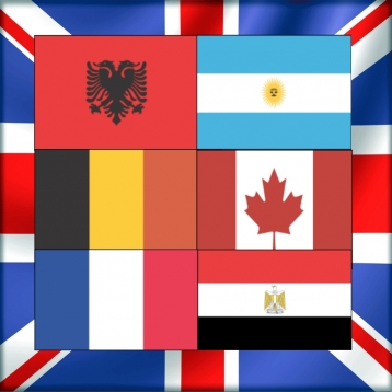 English Words: Country - Flag Quiz