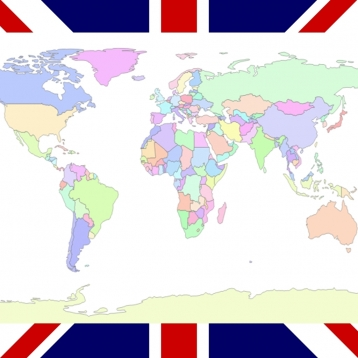 English Words: World - Country Map Quiz