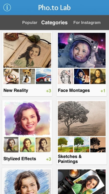 Pho.to Lab - Free Photo Editor: Funny Frames, Filters & Collage Maker! Fun Greetings Cards with Sketch & Pencil Effect, Borders & Cartoon Filter! Retro Frame, Vintage Border & Ecards Creator!