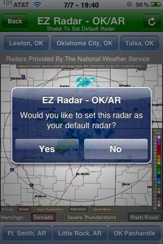 EZ Radar - OK/AR